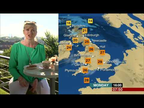 Carol Kirkwood Sat In A Roof Garden In Central London BBC Weather 2016 07 18