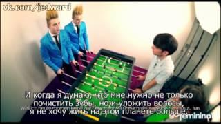 Jedward interview with gofeminin.de (Русские субтитры)