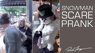 Snowman Scare Prank