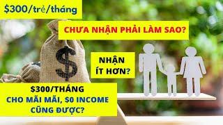 CHO $300/trẻ/tháng MÃI MÃI? CHƯA NHẬN CTC phải làm sao? child tax credit 2021 I TIỀN ĐÂU RA?