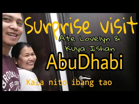 Surprise Visit To Ate Lovelyn And Kuya Ishan || 3rd Times Here In Abu Dhabi