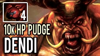 Dendi is BACK! Insane 10k HP Pudge with 4 Heart of Tarrasque Patch 7.00 Dota 2