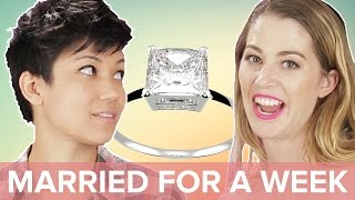 Single People Get Married For A Week • Jen & Kelsey thumbnail