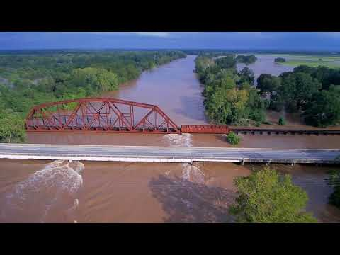 Colorado River Bridge at Altair, Texas - August 29, 2017