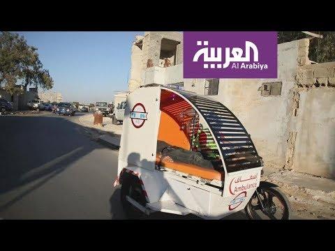 عاملو إغاثة في أدلب يخترعون  دراجة إسعاف نارية بكامل المواصف