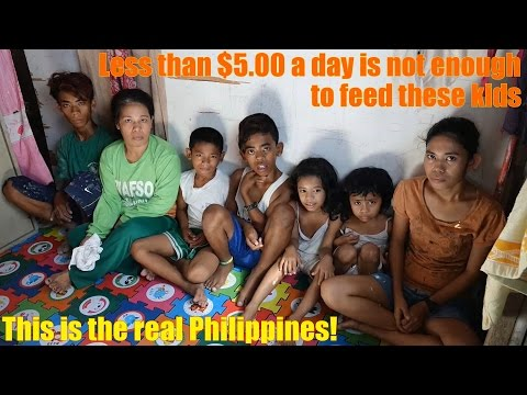 Film about Poverty in the Society: Travel to Manila Philippines and See Poverty. Helping the Poor