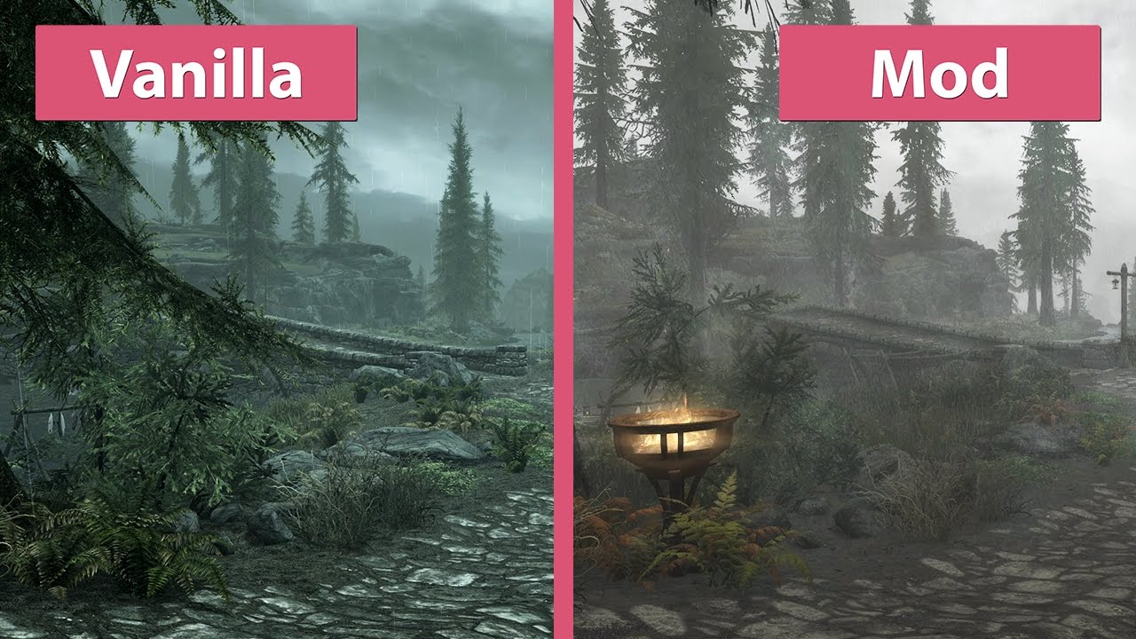Skyrim Special Edition 4K UHD Visual Mod Overhaul Vs
