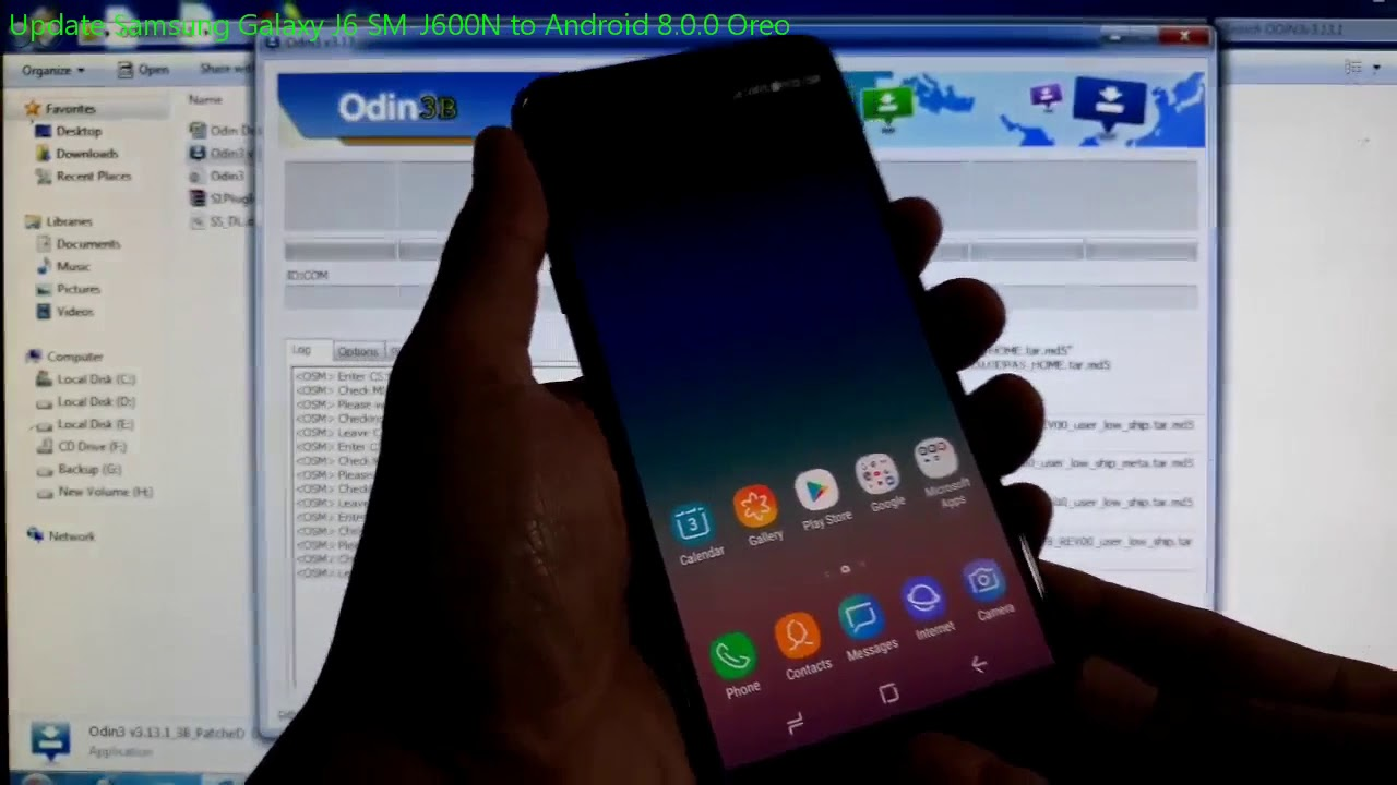 Update Samsung Galaxy J6 SM-J600N to Android 8 0 0 Oreo