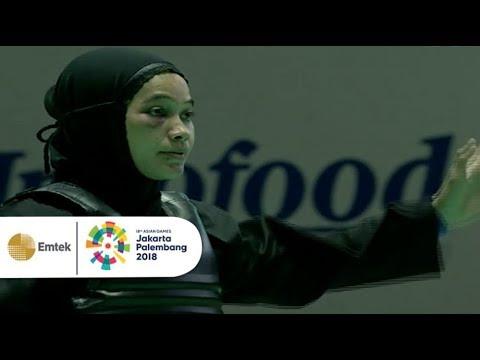 Pendekar Silat Wanita INDONESIA Sarah Tria Monita Raih Medali Emas Di Asian Games 2018!