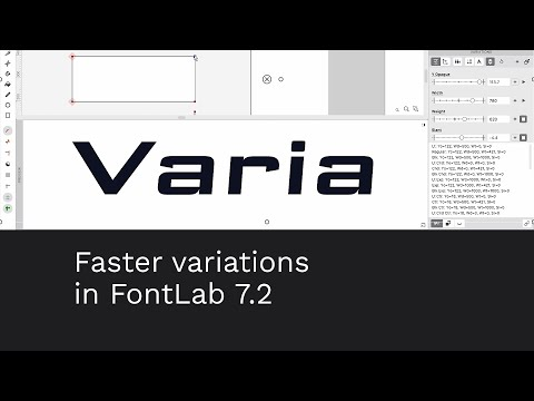 Faster variations in FontLab 7
