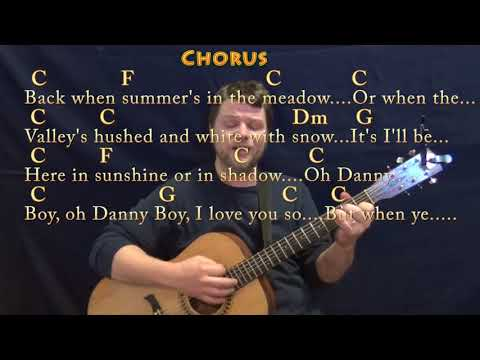Danny Boy (Traditional) Guitar Cover in C with Chords/Lyrics - YouTube
