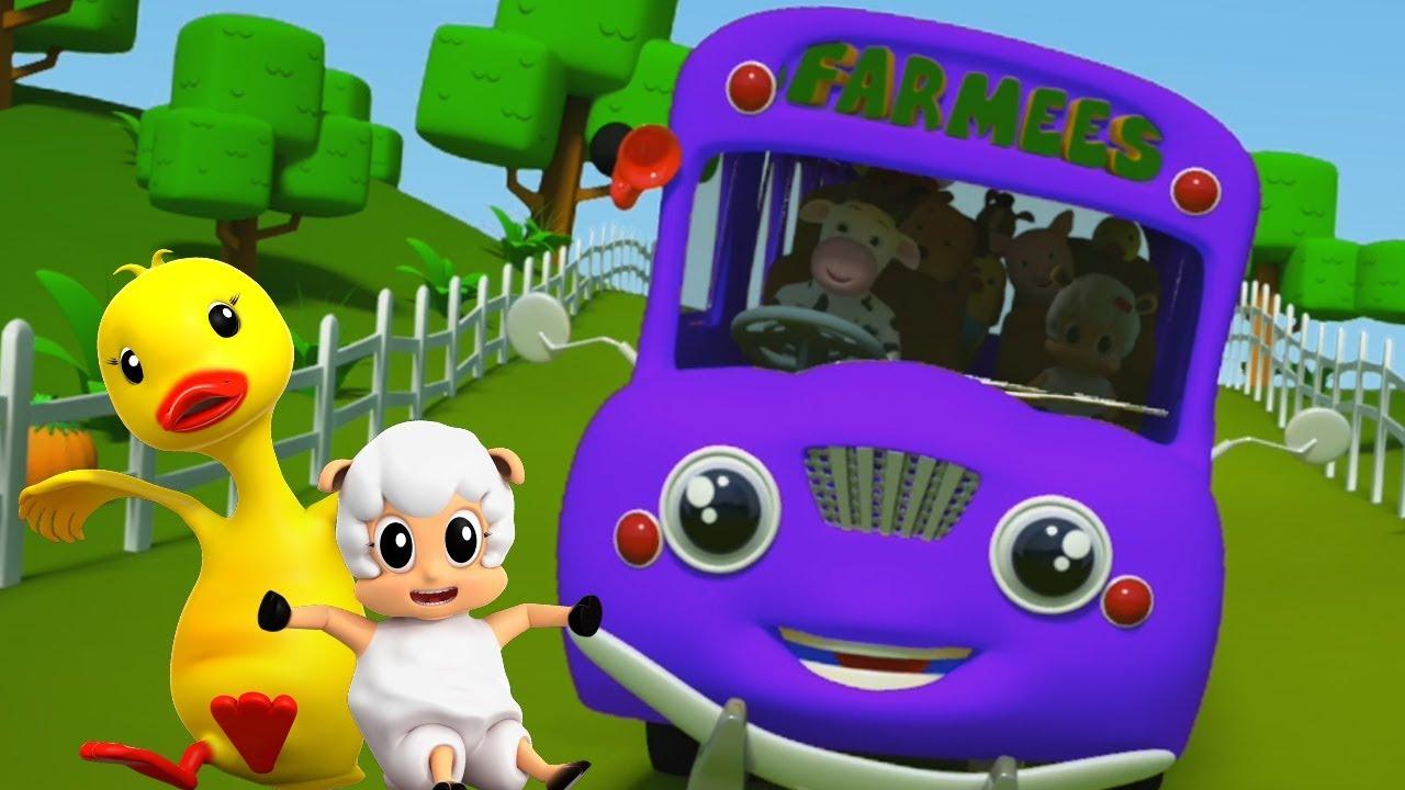 公共汽車上的輪子   公交童謠為孩子   詩為孩子   Wheels On The Bus   Preschool Rhyme   Kids Rhyme   Nursery Song For ...