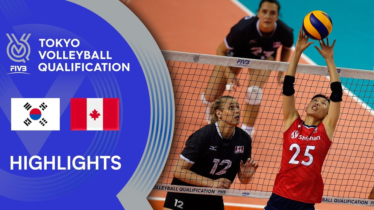 KOREA vs. CANADA - Highlights Women | Volleyball Olympic Qualification 2019