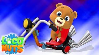 велосипед Алекса   анимационные ролики для детей   Loco Nuts Russia   мультфильмы