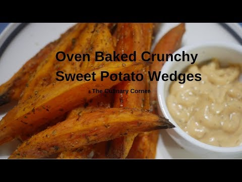 Oven Roasted Crunchy Sweet Potato Wedges (Vegan And Vegetarian)