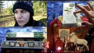 232. [VIDEO SCRAPBOOK] Yule Altar | Tea & Incense | 2015 Plans & Rambles