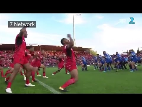 Tonga and Samoa have epic pregame faceoff at Rugby League World Cup | ESPN