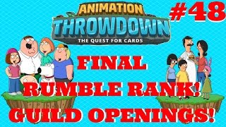 FINAL RUMBLE RANK! GUILD OPENINGS! | Animation Throwdown