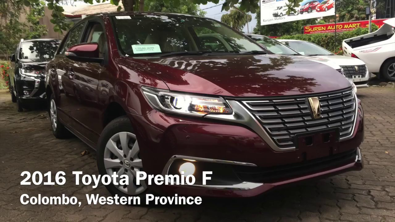 2016 Toyota Premio F Startup And Review Youtube Old