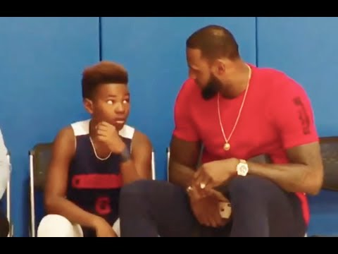 lebron-james-gives-advices-to-his-son-!!-mic'd-up