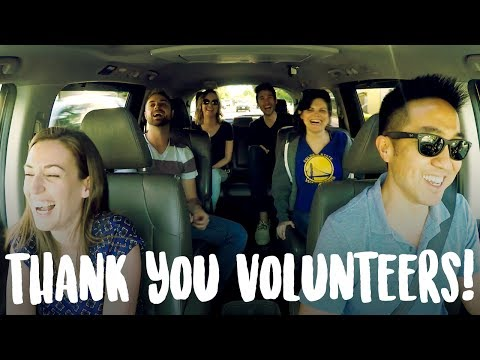 Carpool Karaoke for Volunteers