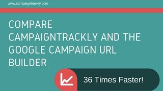 CampaignTrackly is 36 Times Faster than Google Campaign URL BuIlder