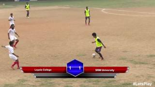 RFYS: Chennai College Boys - Loyola College vs SRM University Highlights