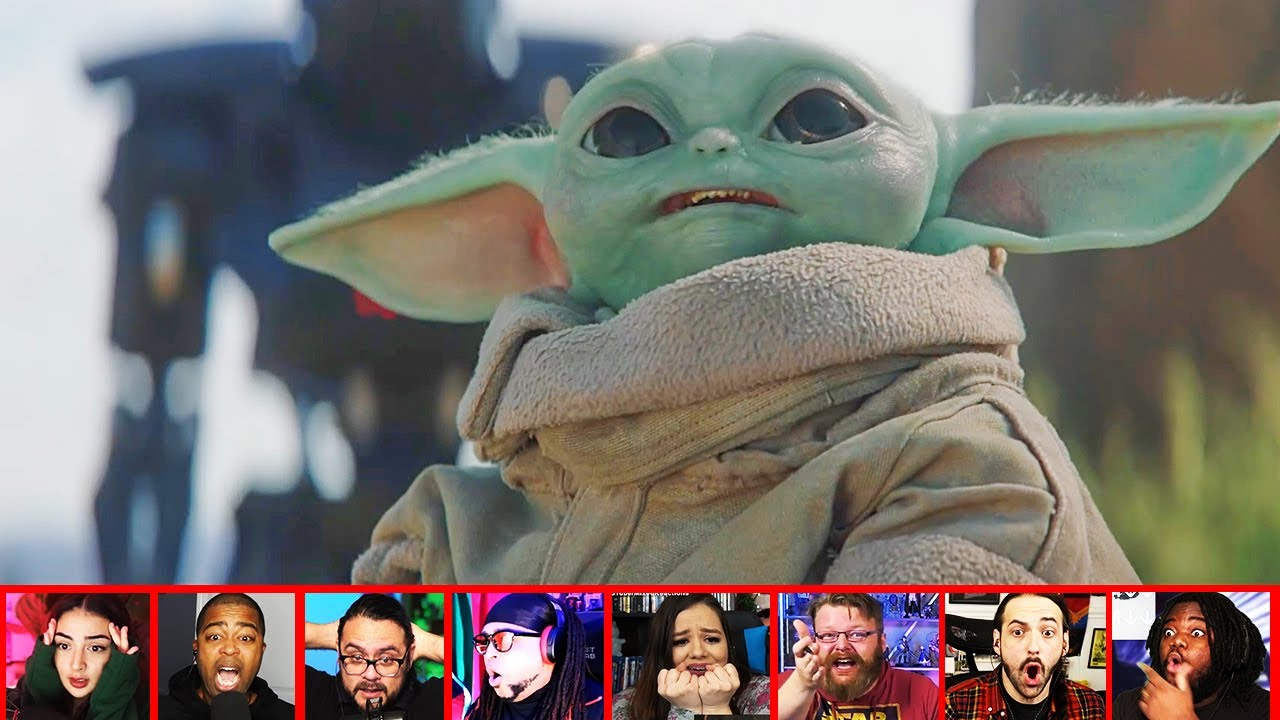 Reactors Reaction To The DARK TROOPERS Snagging Poor Baby Yoda On The Mandalorian | Mixed Reactions