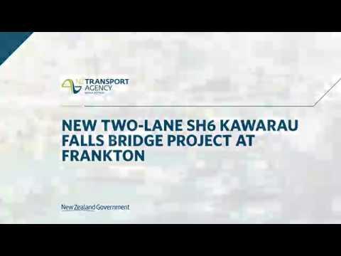 Time lapsed footage of the new Kawarau Falls Bridge
