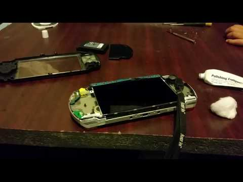 How to: Open a PSP to clean dust dirt and the lcd screen as well as the front glass