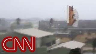 See Hurricane Michael tear roof off home