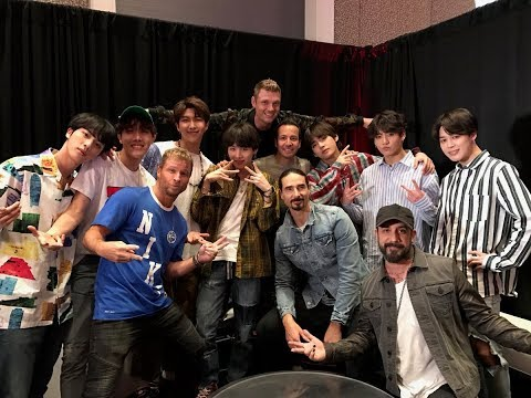 180520 BTS Meets Backstreet Boys At Backstage BBMAs 2018
