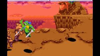 Teenage Mutant Ninja Turtles IV - Turtles in Time - Turtles in Times Casual Playthrough- Leonardo and Michaelangelo - User video