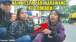 Download Mp3 Ke Lombok Naik Vespa Ditengah P4ndem1?? Ladies Vespa Dari Karawang