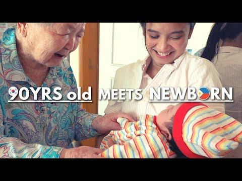 Korean Great-grandmother meets Filipino-Korean Mixed Great-granddaughter!