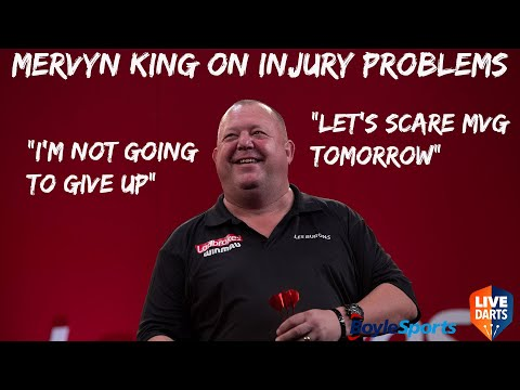 "Mervyn King on injury problems: ""I'm not going to give up"" + ""Let's scare MVG tomorrow"""