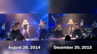 Britney Spears   BOMT Breakdown Comparison 2014 2016 Piece Of Me Show