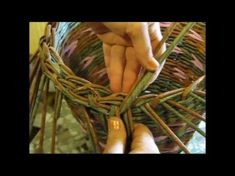 Basket weaving newspaper. How to make the edging. Part 5.1.