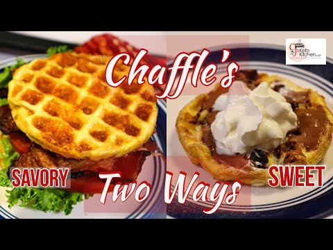 chaffle's--two-ways:-savory-and-sweet-#ketorecipe-#chaffles-#lowcarbrecipe-#ketolifestyle