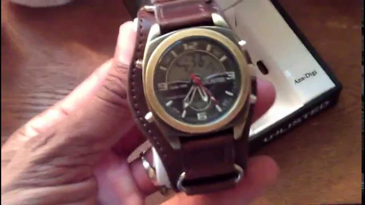 b8144f41533 Kenneth Cole Unlisted Analog-Digital Watch - YouTube
