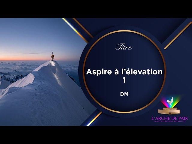 ASPIRE À L'ÉLÉVATION - SR MAGGY MOKE - DIMANCHE 29 AOÛT 2021- Partie 1/2