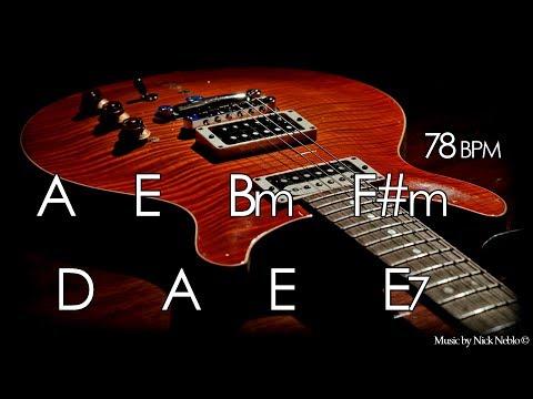 Backing Track Slow Instrumental Guitar Ballad A Major