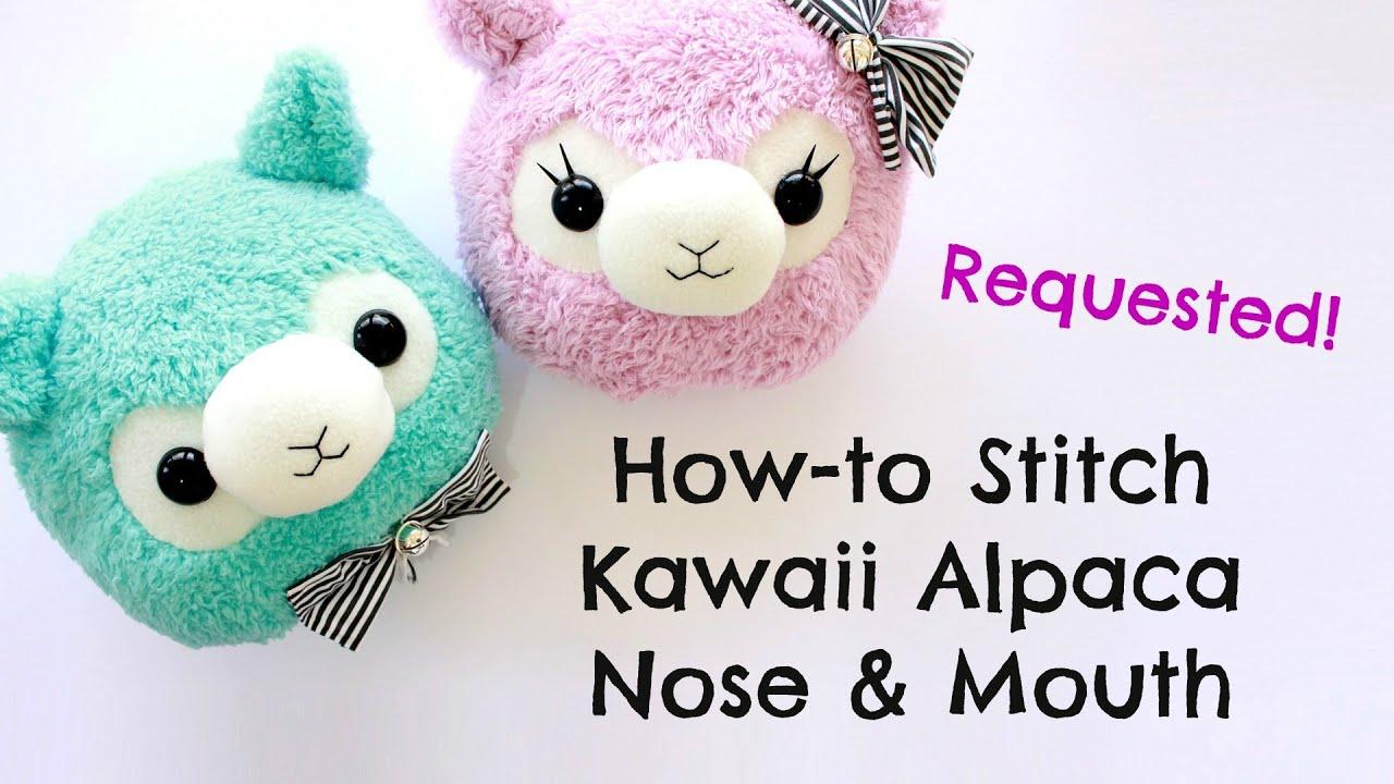 Quick Demo  How to stitch a kawaii alpaca nose  mouth