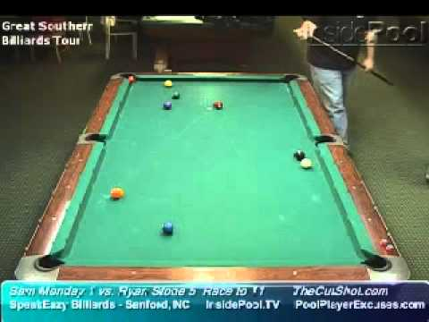 Sam Monday vs Ryan Stone at SpeakEazy Billiards