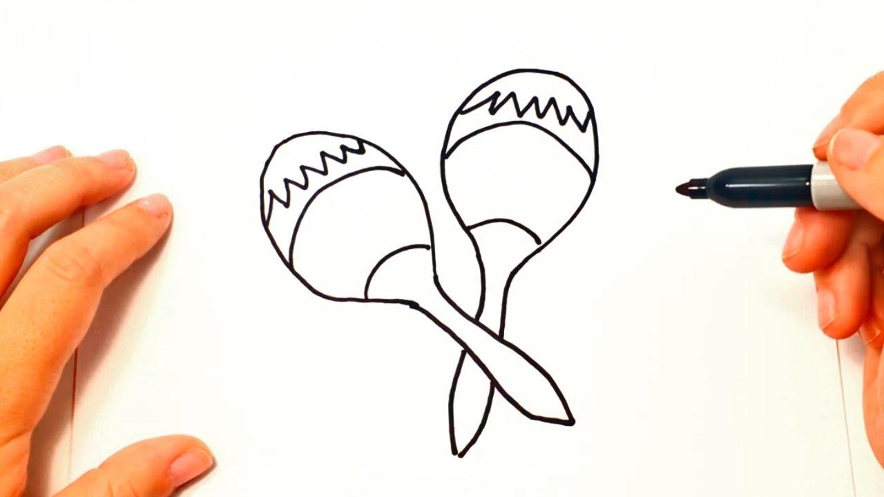 Cómo Dibujar Unas Maracas Paso A Paso Dibujo Fácil De Maracas