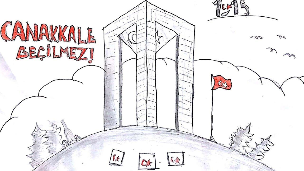 çanakkale Zaferine özel çizim Youtube