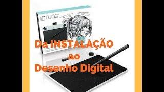 Mesa Digitalizadora Wacom Intuos Draw - Ctl490dw /INSTALAÇÃO E PRIMEIRO DESENHO DIGITAL.