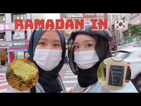 fasting in korea - a ramadan vlog, tteokbokki buffet, online classes, mini shopping haul
