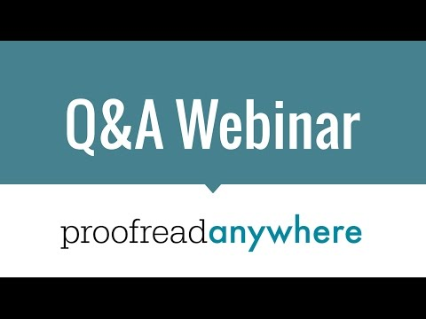 Q&A Webinar with Caitlin Pyle of Proofread Anywhere