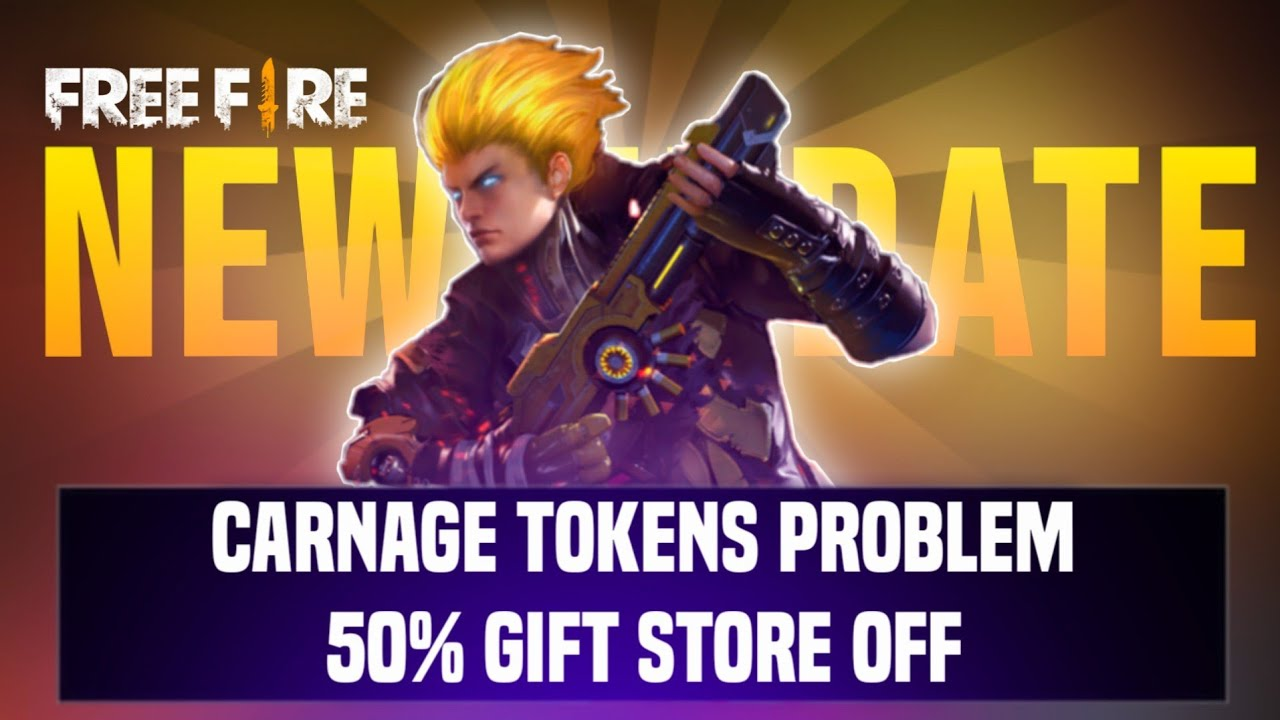 New Update 🤫 Carnage Token  Problem ✔️ 50% Off In Gift Store | New Luck Royal | Garena Free Fire🔥